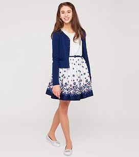 Madchen Gr 92 176 Armelloses Kleid Mit Strickjacke In Weiss Blau Mode Gunstig Online Kaufen C A Kleid Und Strickjacke Kleider Modestil