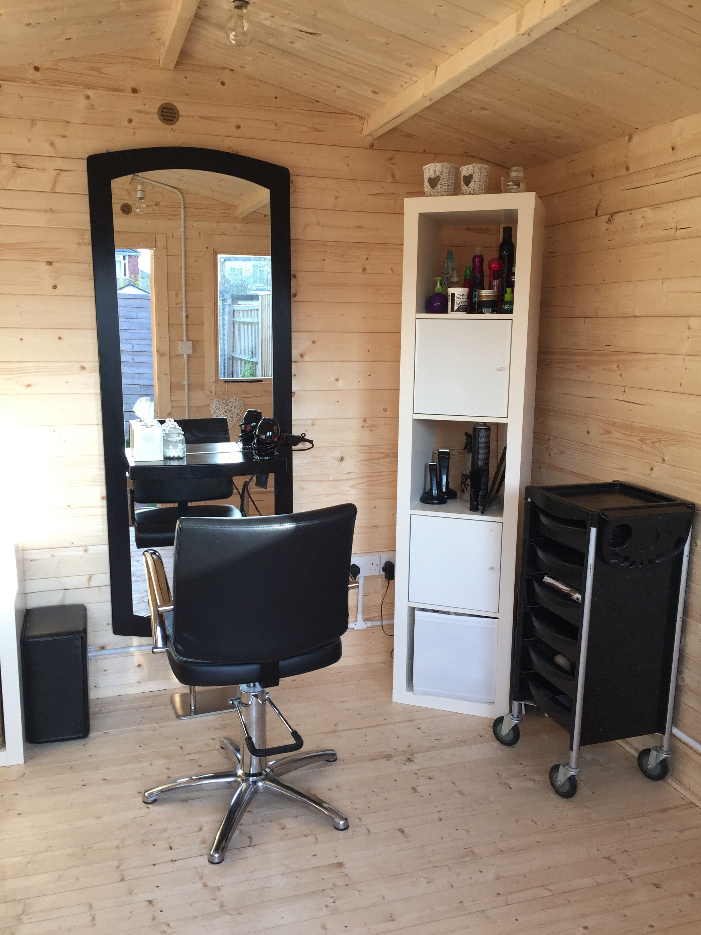 Emma Vietch turned her Log Cabin into a hair salon to free up some