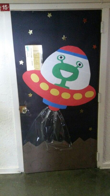 Alien/ Space classroom door! | Classroom door, Room doors ...