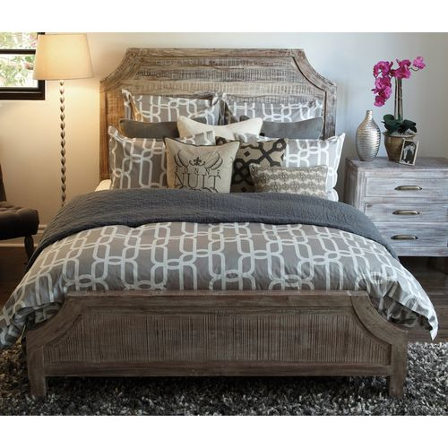 distressed wood bed