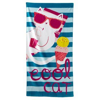 Jumping Beans 174 Quot Cool Cat Quot Beach Towel Beach Bedroom