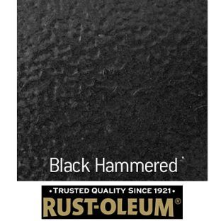Rust Oleum Universal Spray Paint Hammered Black 400ml From