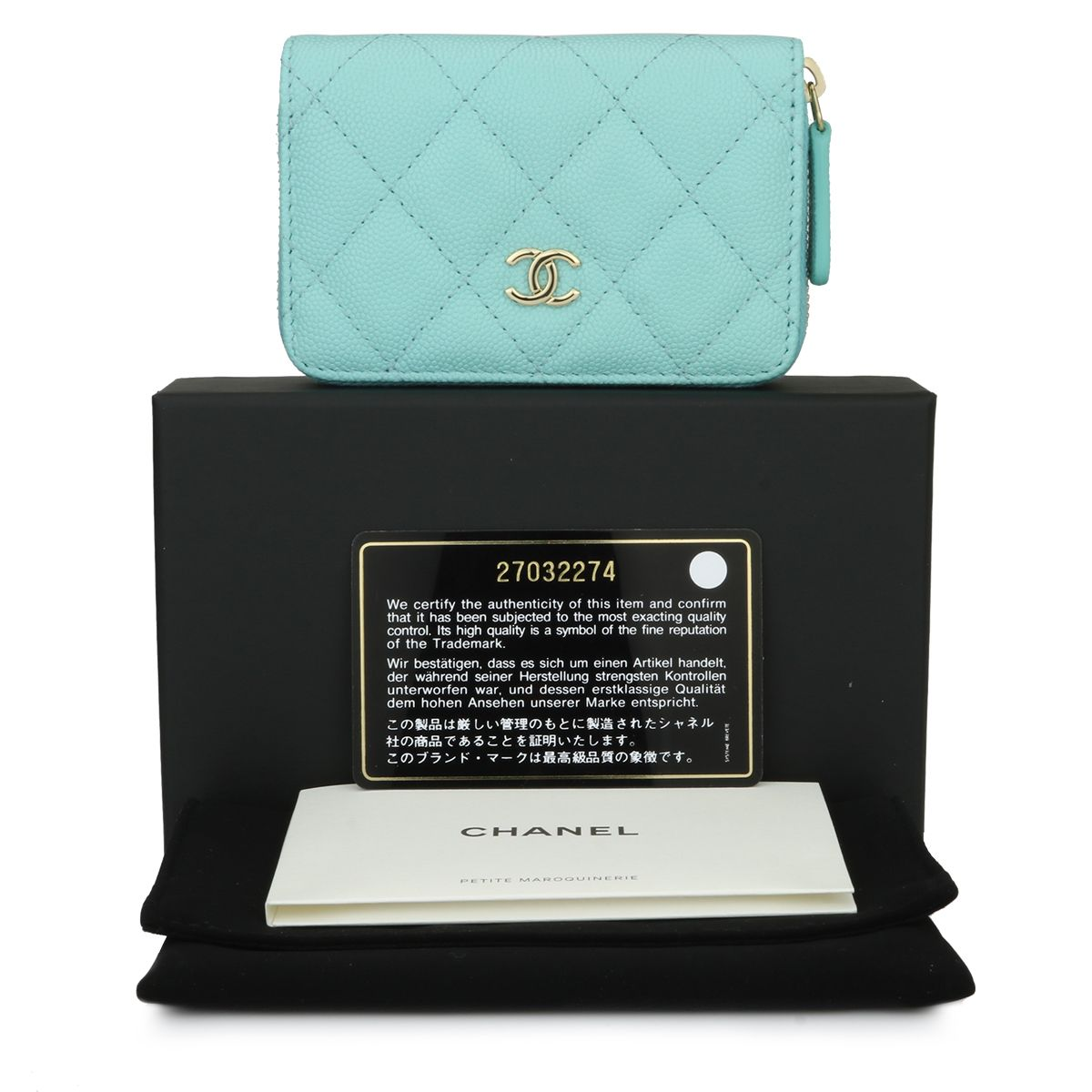 21d266d5762b CHANEL Small Coin Purse Tiffany Blue Caviar Light Gold Hardware 2018 - BoutiQi  Bags