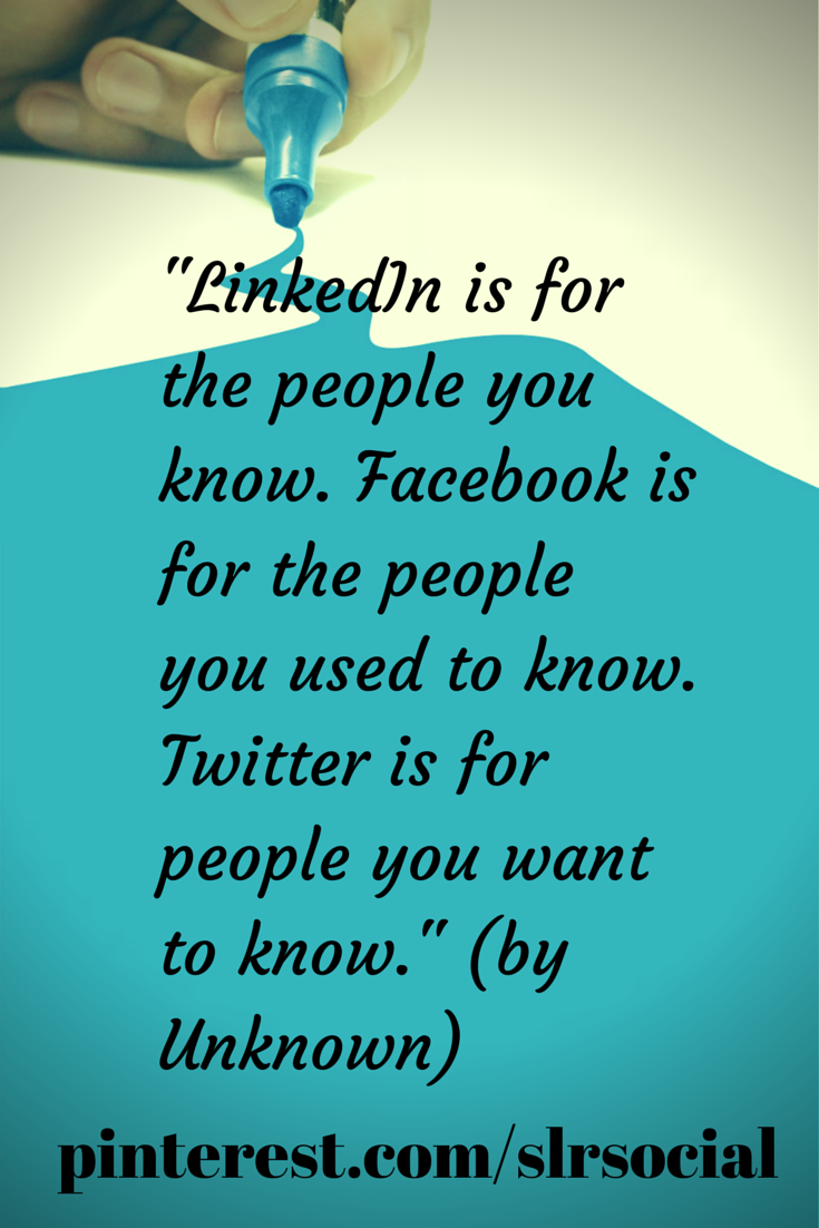Social Media Quotes Social Media Quote About Linkedin Facebook & Twitterslrsocial