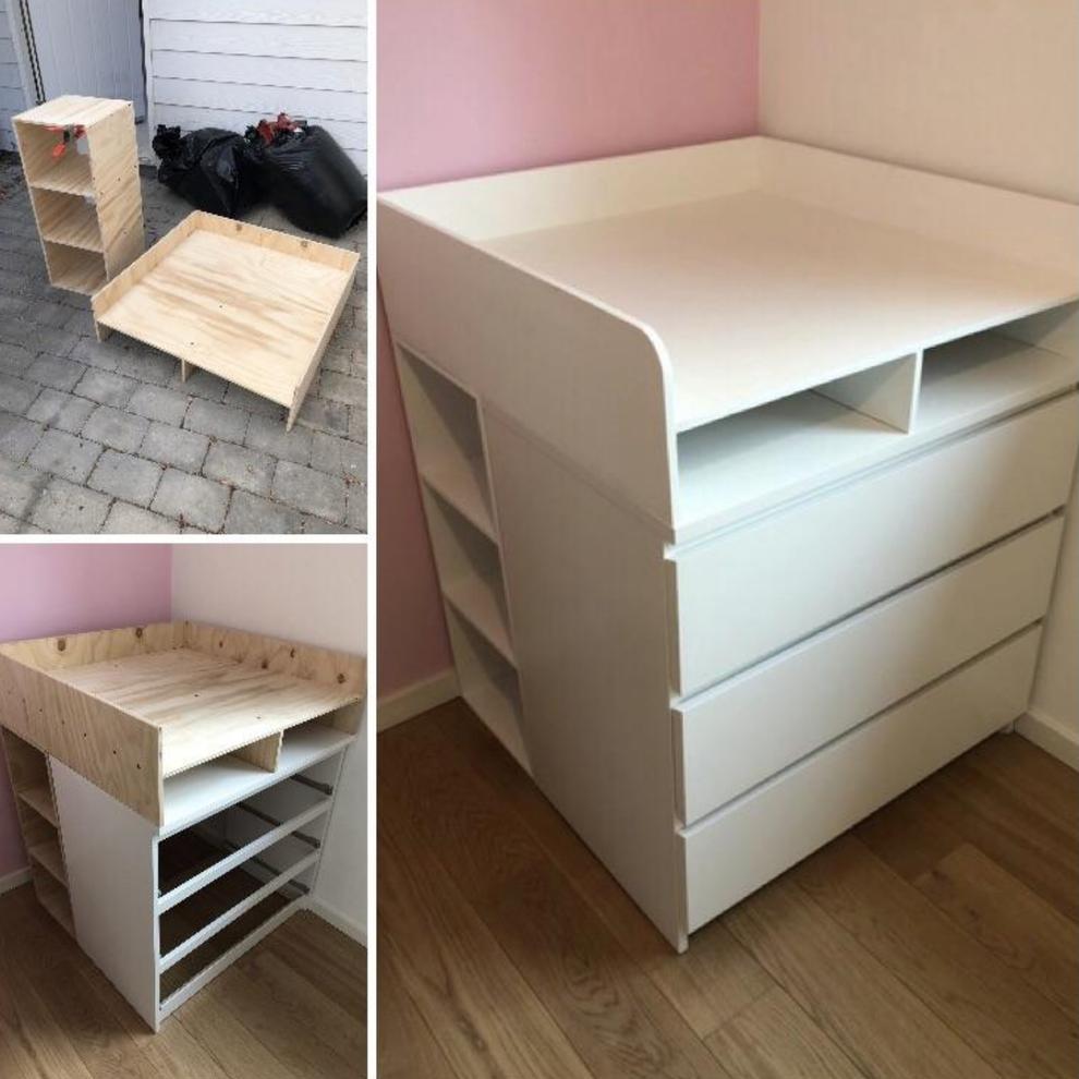 Leute Zeigen Ihre Besten Ikea Hacks Und Die Sehen Unglaublich Aus Aus Besten Die Ihre Ikeahacks In 2020 Ikea Furniture Hacks Baby Changing Table Ikea Furniture