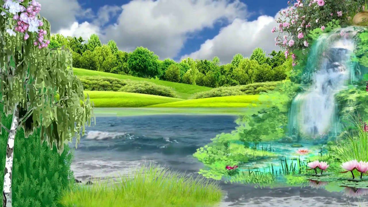 Nature Waterfall River Background Video Hd Jonystarhill Green Screen Video Backgrounds Green Screen Backgrounds Studio Background Images