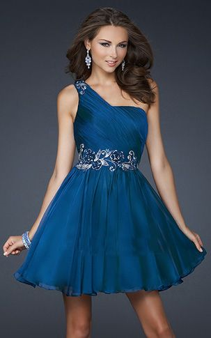 Vestidos de fiesta cortos azules