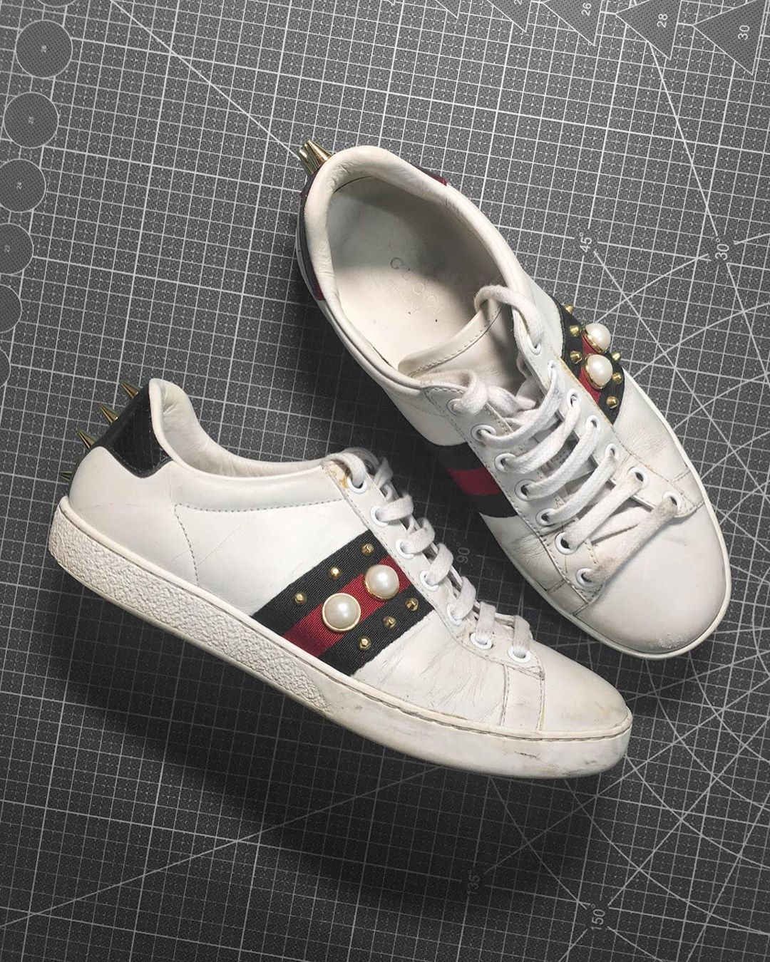 Custom Sneaker By mskdstudio in 2020 Gucci ace sneakers