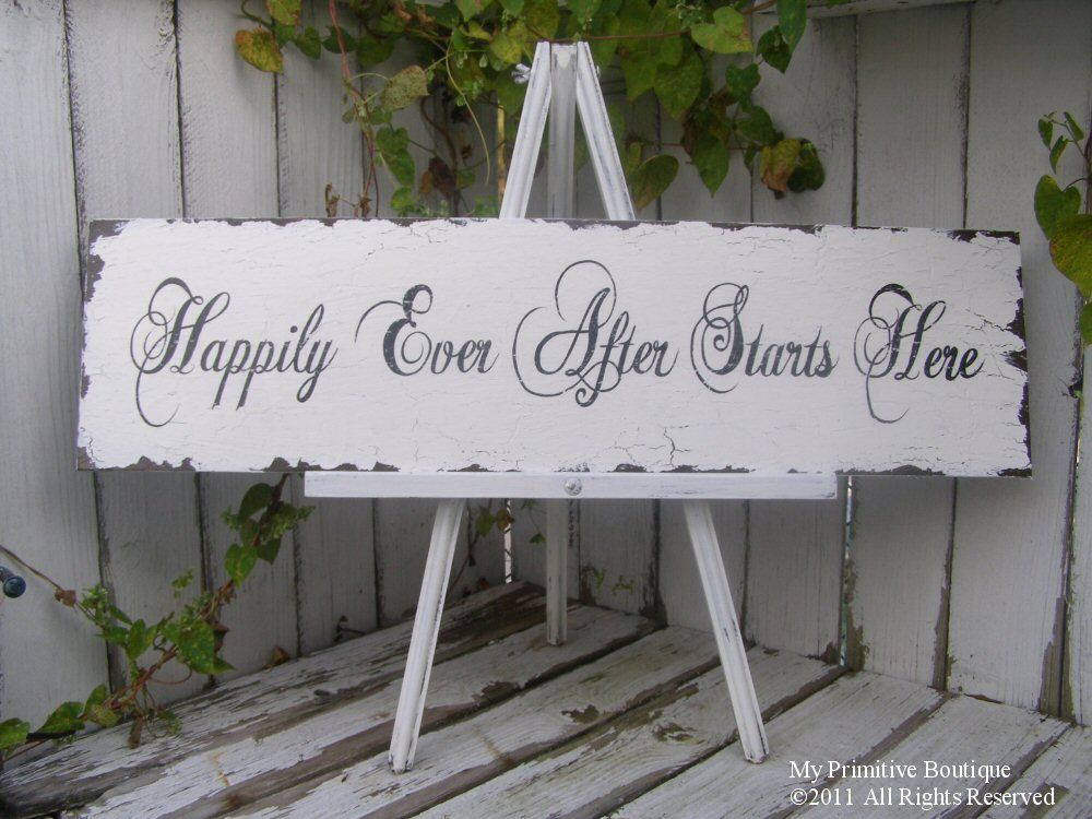 Ever after wedding event decor