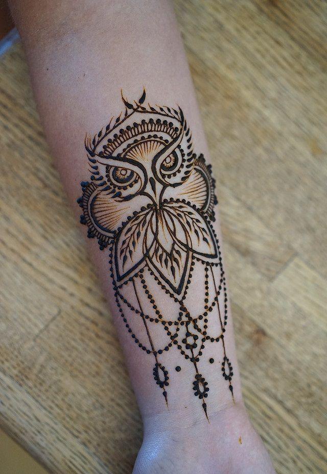 Owl Pattern Henna Mehndi Tattoo Hq Image Henna Tattoo Designs Henna Patterns Hand Henna Designs Hand