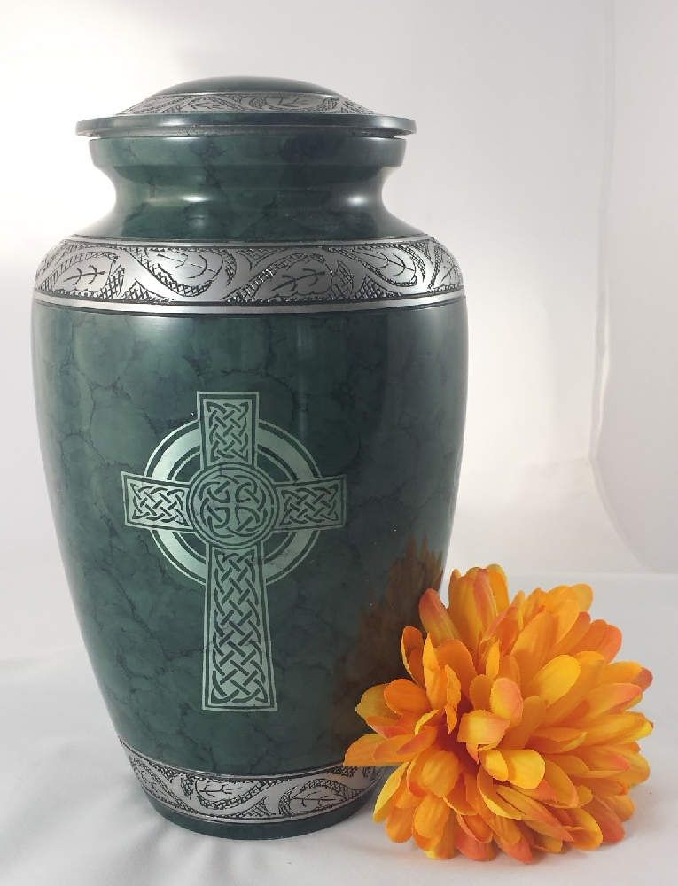 Hand Painted Solid Metal Urn for Ashes Hummingbird Adult Cremation Urn with Free Velvet Bag Eternitymarts Serenity Painted Cremation Urn Affordable Metal Urn