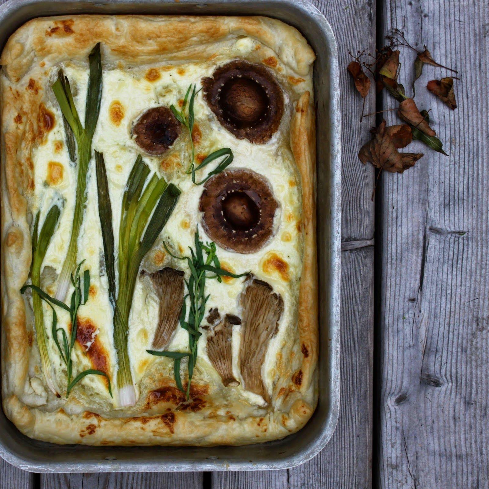 SVAMPETÆRTE MED MASCARPONE - Mushroom pie
