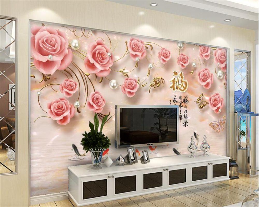 Beibehang Custom Wallpaper Relief Rose Living Room Bedroom Tv Sofa Background Mural House Living Room Wall Wallpaper Wall Art Wallpaper Ceiling Design Bedroom