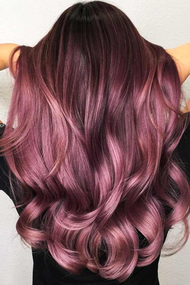 35 trendige lila Haartöne   #Haartöne #haircolorhairstyles #Lila #trendige #haircolor