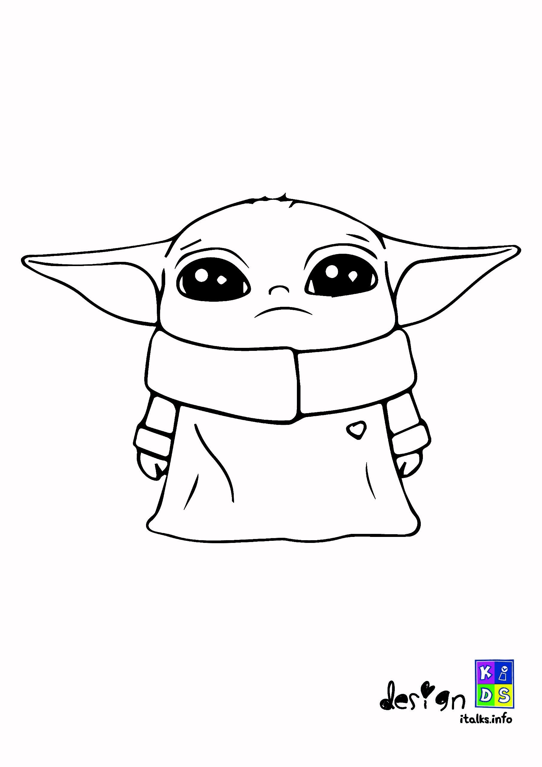 Baby Yoda Coloring Design For Kids Color Design Color Design