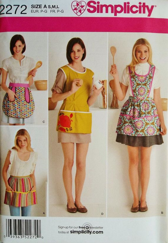 Aprons Pattern Smock Apron Pattern Simplicity 40 Sewing Pattern Unique Simplicity Apron Patterns
