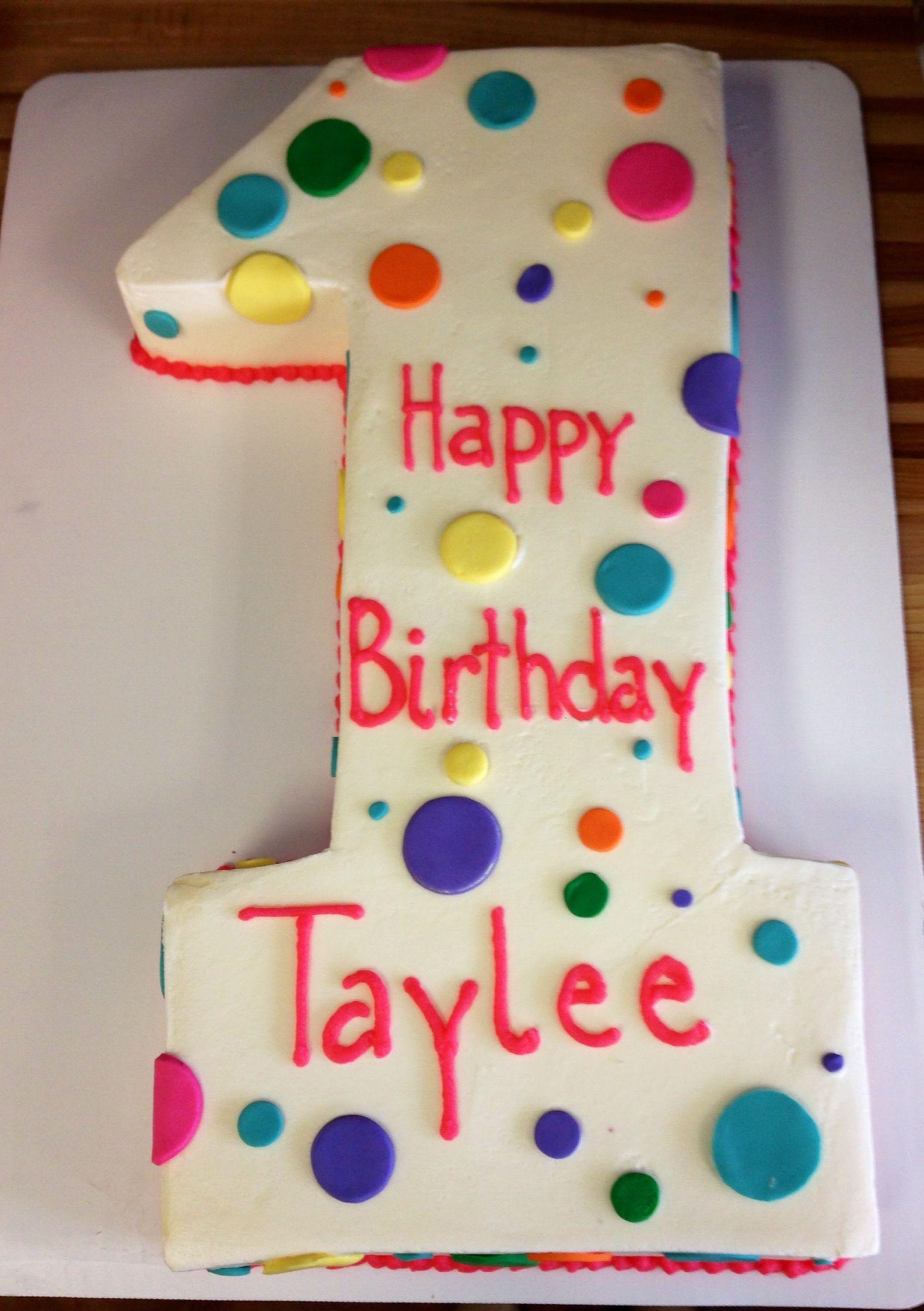 1 Birthday Cake Shape