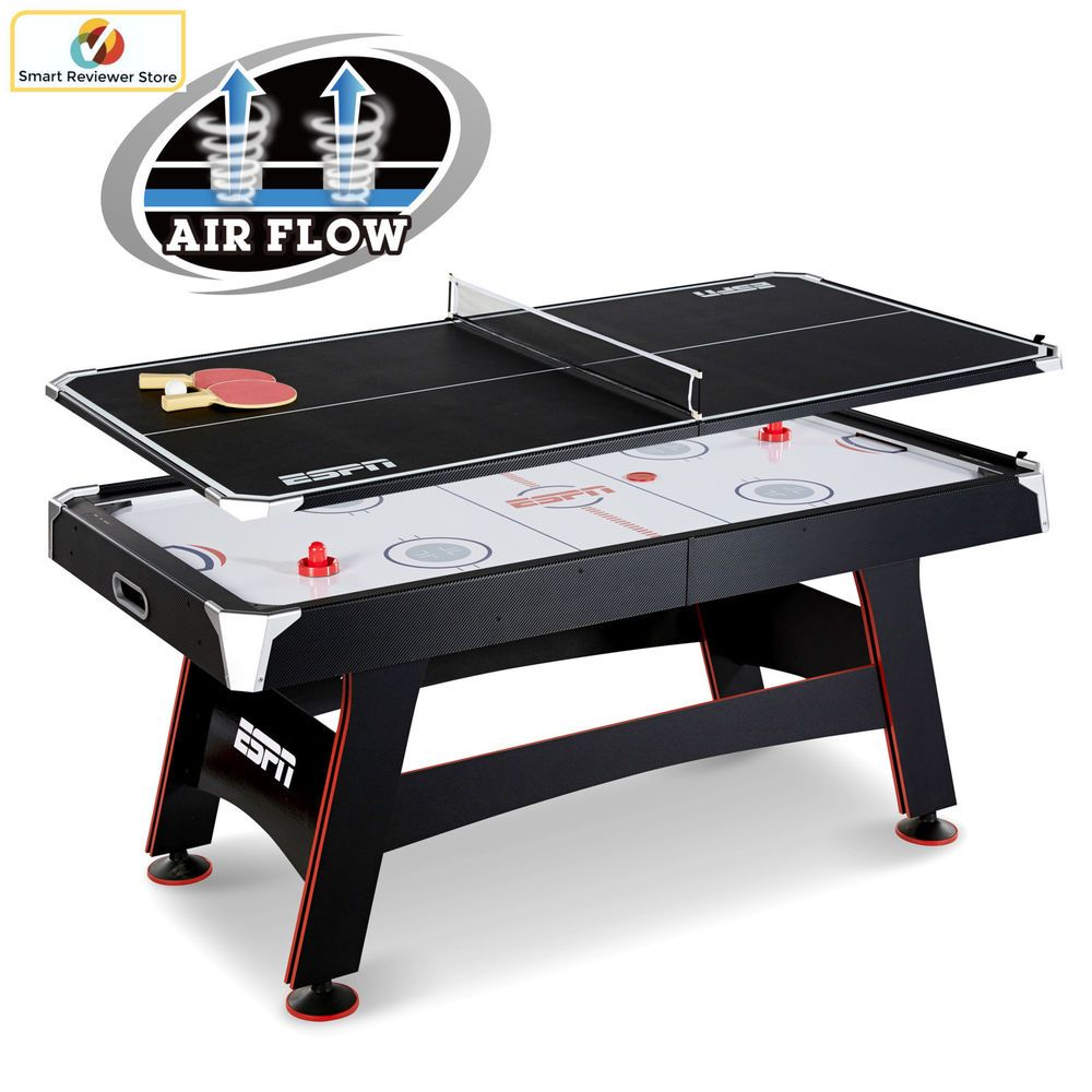 72 Espn Air Hockey Table With Tennis Top Ping Pong Set Gametable Sport Activity Espn Table Tennis Game Room Family Air Hockey