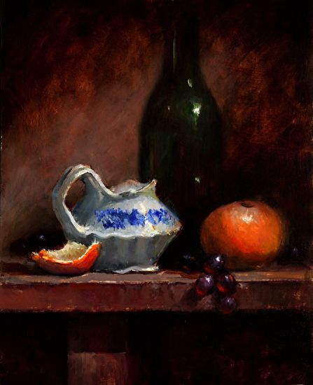 art.quenalbertini: Flo Blue with Clementine, Oil by Kathy Tate via kathytate