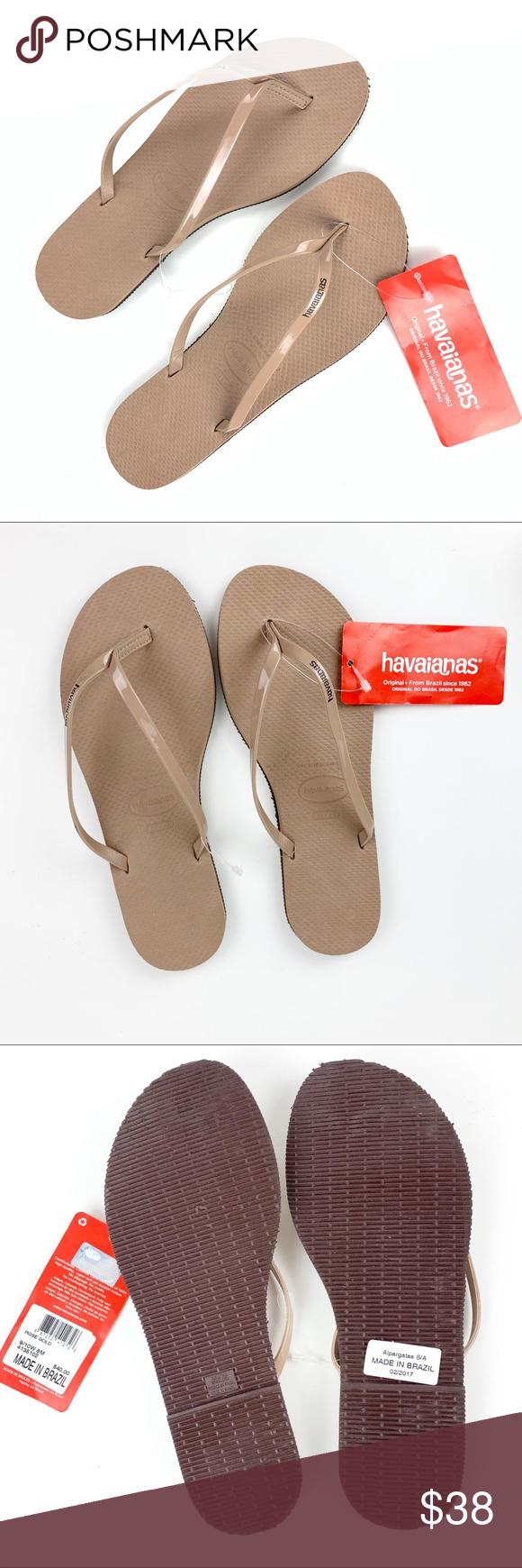 e76e4fbb06e NWT HAVAIANAS Rose Gold  Nude Flip Flip Sandals NWT Havaiana s Rose Gold  Flip flops.