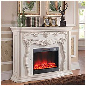 White Marble Electric Fireplace White Electric Fireplace Big