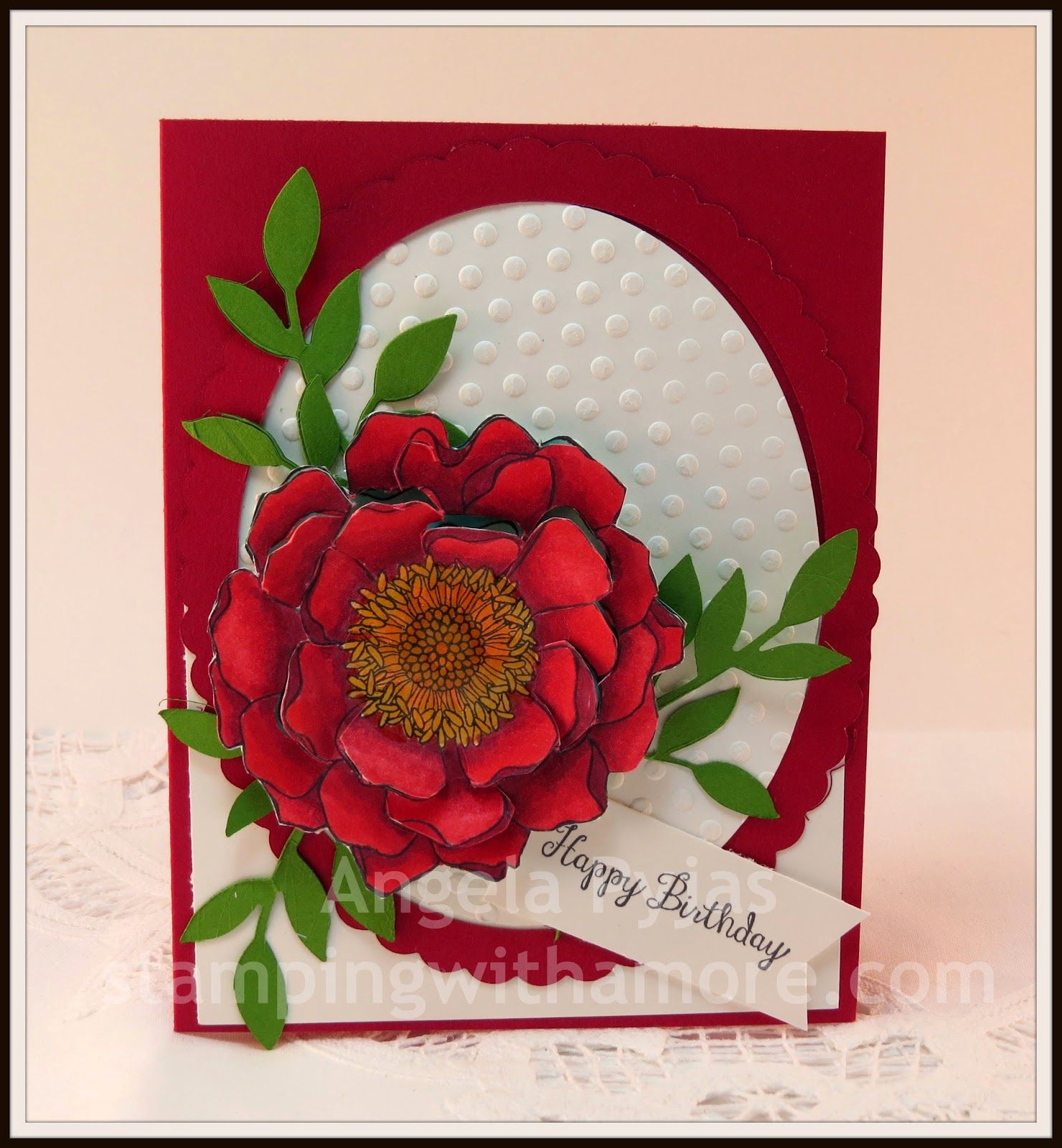Stampin'Up Blended Bloom Birthday Card