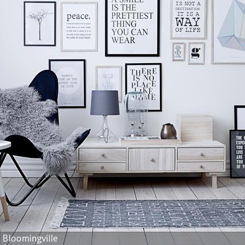 Bilderwand flur dekoration sessel und lounge sessel - Bilderwand skandinavisch ...