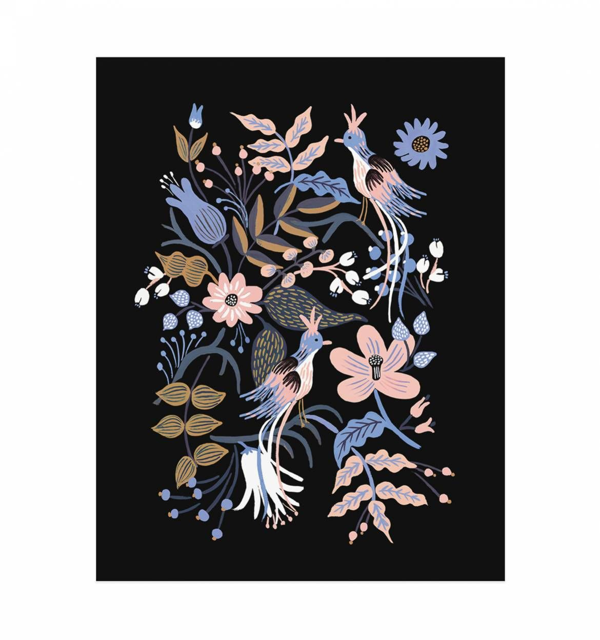 Feathered Folk Art Print by RIFLE PAPER Co. | Made in USA