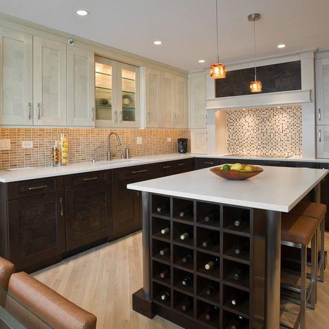 Light Upper Dark Lower Cabinets Design Ideas Pictures