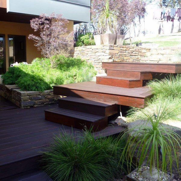 Top 50 Best Deck Steps Ideas - Backyard Design Ins