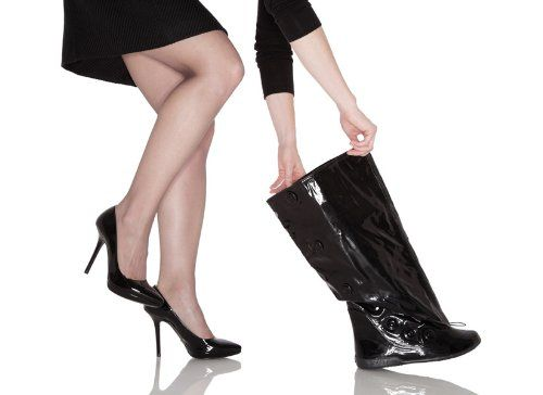 """Amazon.com: PYSIS """"Posh Galosh"""" Overboots: Over-The-Heel Boots for Women: Shoes"""