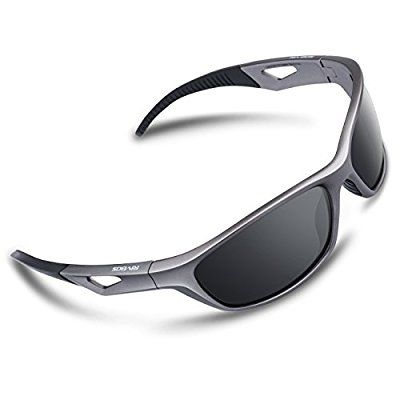 553b6c252d RIVBOS Polarized Sports Sunglasses Driving Sun Glasses for Men Women TR 90  Unbreakable Frame for Cycling Baseball Running Rb831 (Sliver Black)   Sports    ...