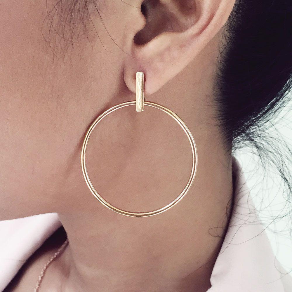 b7e53f2c9 Large hoop earrings, hoop bar stud earrings, vermeil hoop earrings, rose gold  hoop earrings, gold hoop earrings, silver hoop earrings