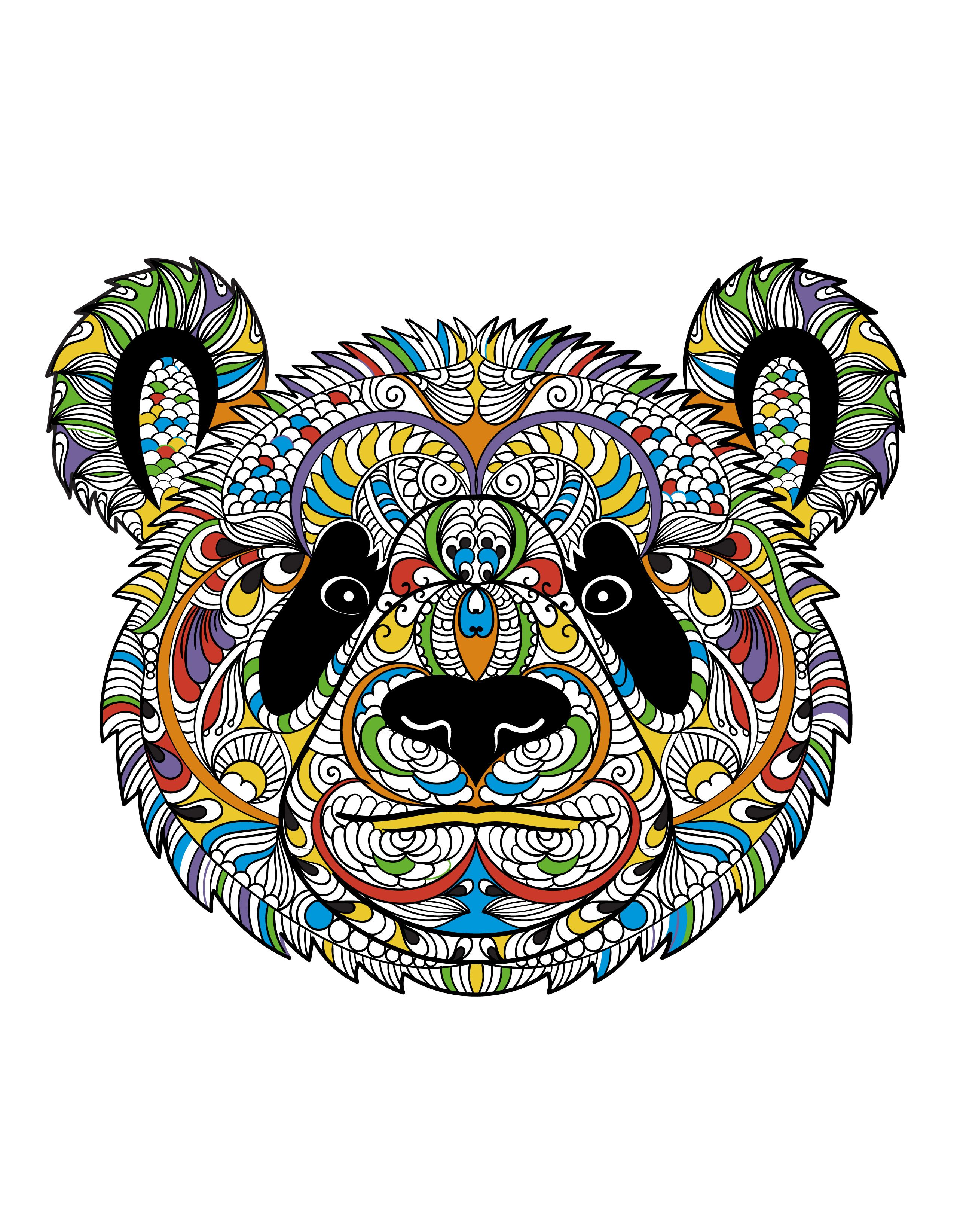 a panda from animals an coloring book adultcoloringbook