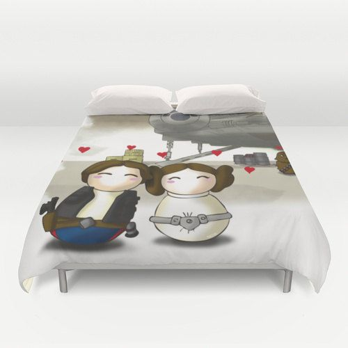 Star Wars Duvet Cover Han And Leia Duvet Cover By Geekyhome