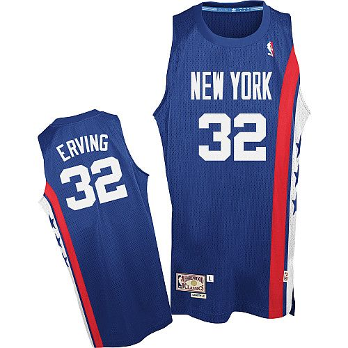 0f1307870a2 Adidas NBA New Jersey Nets 32 Julius Erving Soul Swingman Road Blue Jersey
