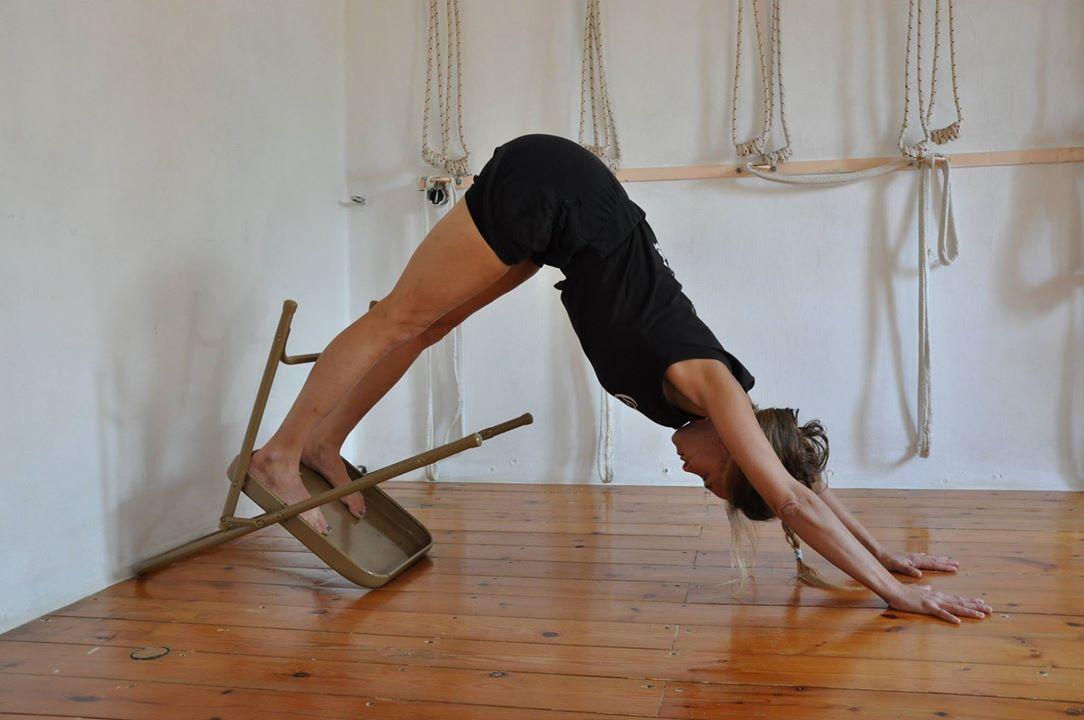 Adho Mukha Svanasana | Chair pose yoga, Iyengar yoga ...