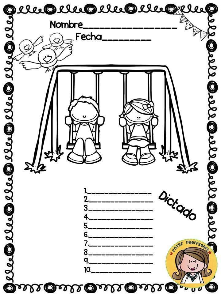 Plantillas para el dictado, diferentes niveles | Preescolar ...