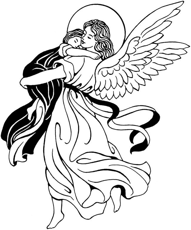 Angel clip art printable Dover Publications | Vector images ...
