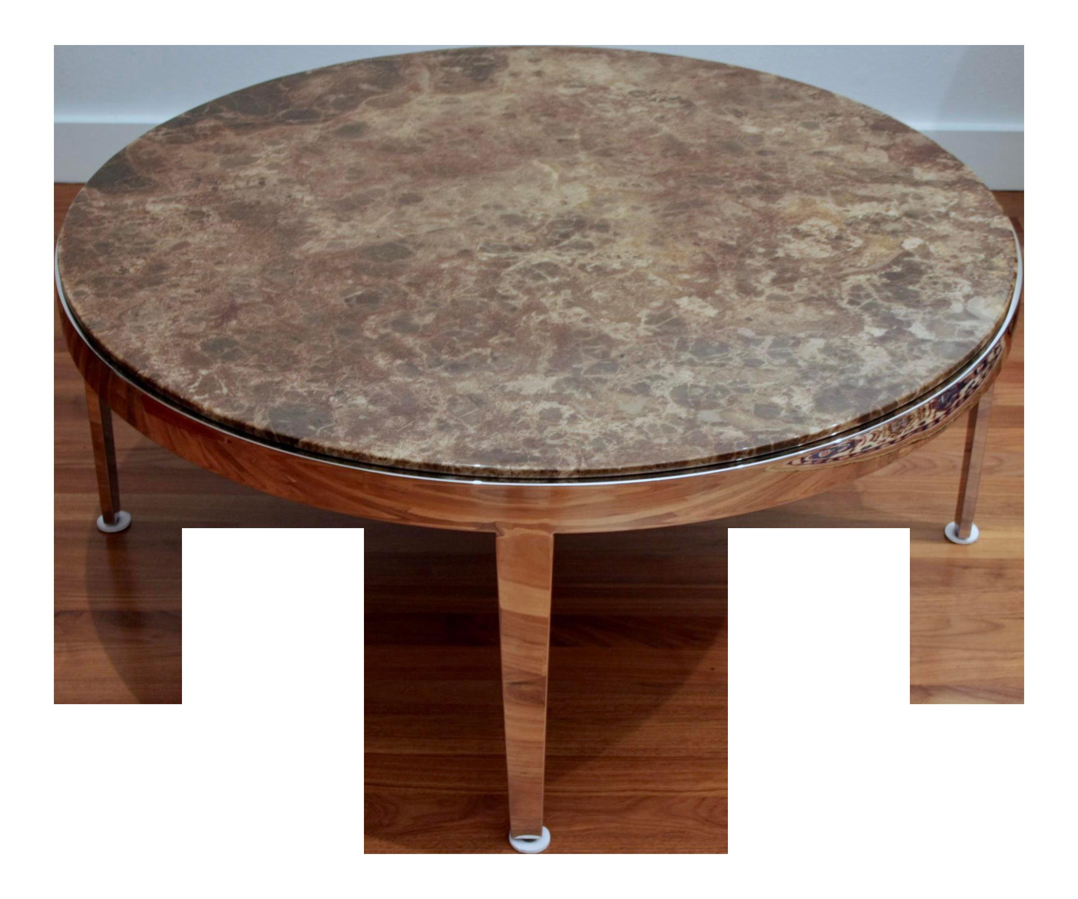 Marble Round Coffee Table On Chrome Base Coffee Table Marble Round Coffee Table Marble Coffee Table [ 1818 x 2180 Pixel ]