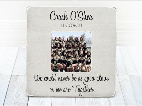Coach Thank You Gift Coach Frame Cheer Coach Gift Picture Frame Personalized Gift Thank You From Team Cheer Coach Gifts Coach Gifts Thank You Gifts