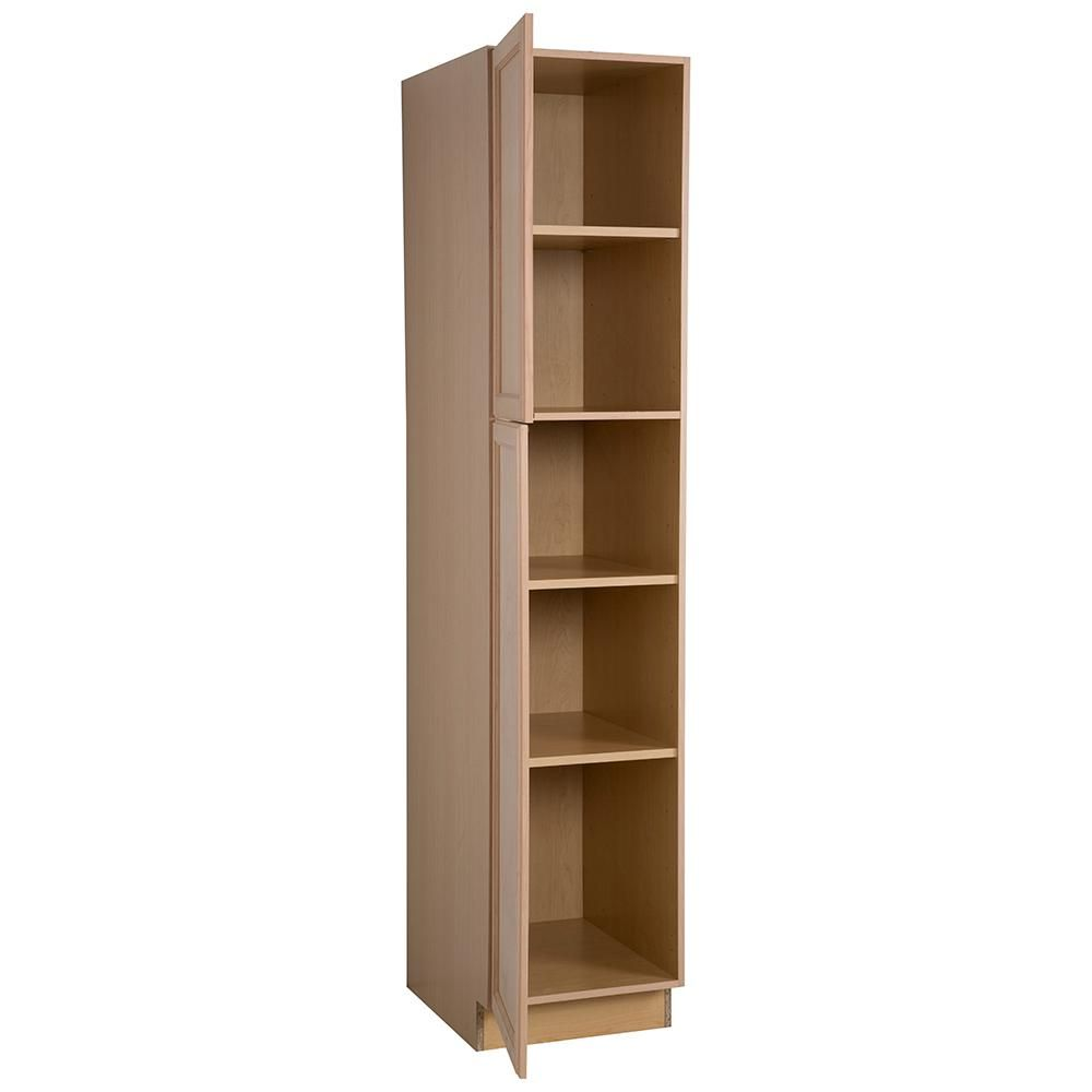 Easthaven Shaker Assembled 18x84x24 63 In Frameless Pantry Utility Cabinet In Unfinished Beech Eh1884p Gb Utility Cabinets Cabinet Tall Cabinet Storage