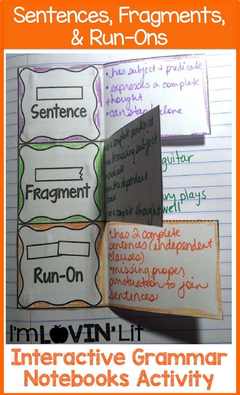 medium resolution of 43 Fragment ideas   sentence fragments