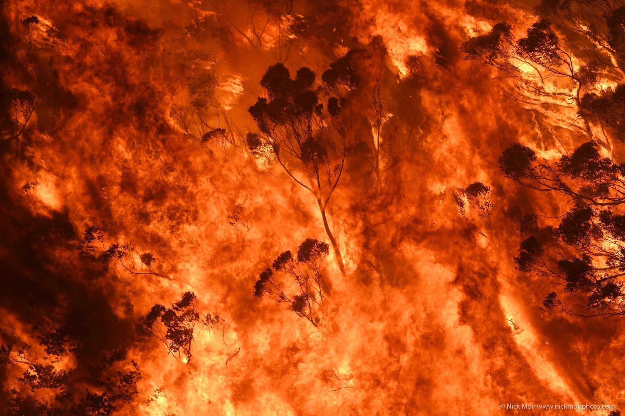 Gospers Mountain bushfire in New South Wales Australia