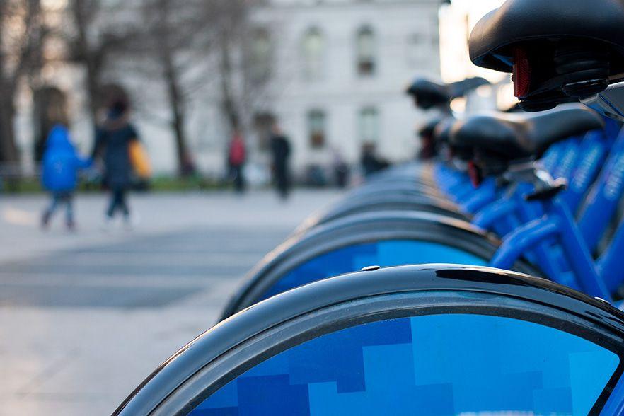 NYC - blue city bikes