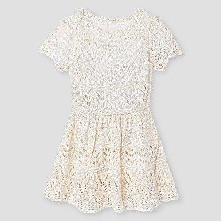 3983c92b2 Baby Girls  Pointelle Crochet Sweater Dress White - Cat   Jack ...