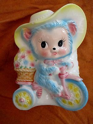 Vintage An Ardco Eyed Bear Ontricycle Baby Nursery Planter 3318 Pinterest Planters And