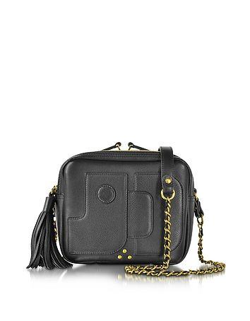 3585720058 Pascal Black Leather Small Square Crossbody bag  DesignerHandbags   DesignerShoes