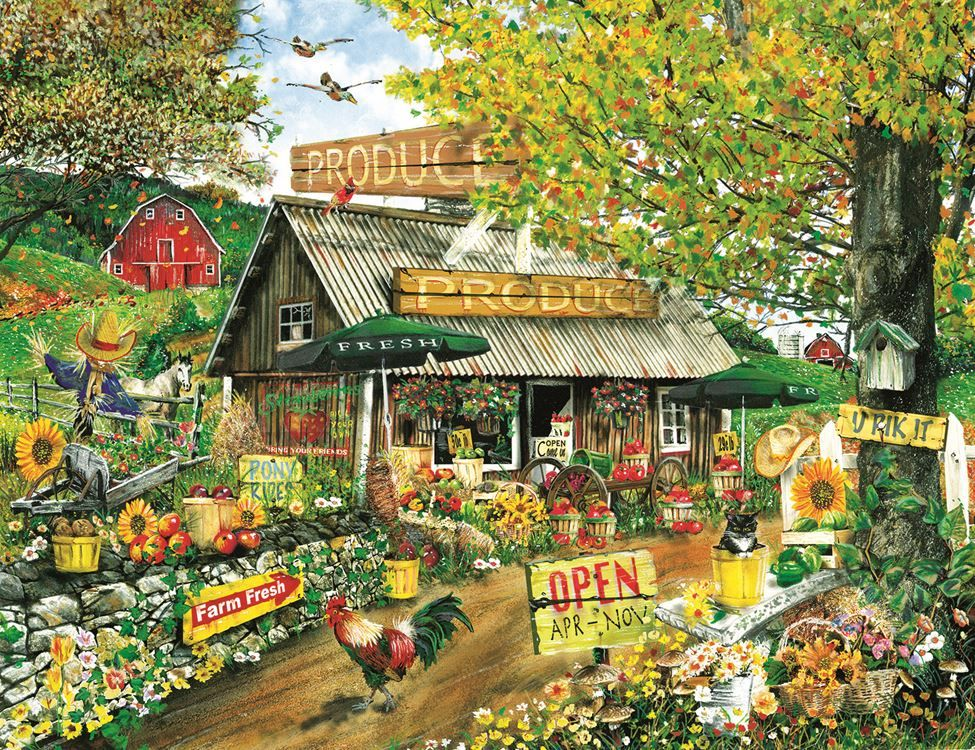 The Produce Stand (1000 Large Piece Puzzle by SunsOut
