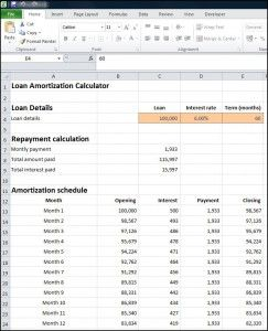 Monthly Loan Amortization Calculator Plan Projections Amortization Schedule Online Data Entry How To Plan